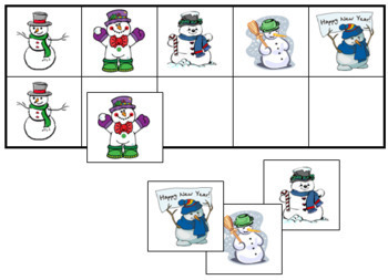 Snowman Match-Up and Memory