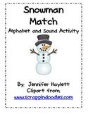 Snowman Match - Word Work Activity