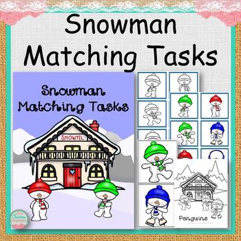 Snowman Matching Activities