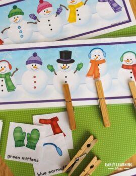 Snowman Activities   Snowman Matching   Snowman Game