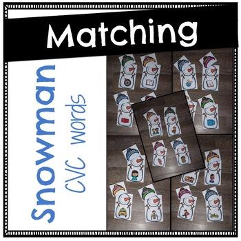Snowman Matching -CVC words