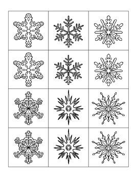 Snowflake Matching Card Game