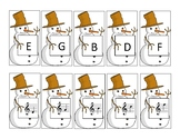 Snowman Matching Cards Treble Clef Lines