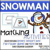 Snowman Matching Centers Preschool
