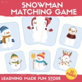 Snowman Matching Game Winter Center Activities Preschool L
