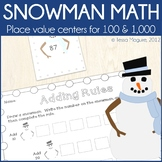 Place Value Centers: Snowman Math