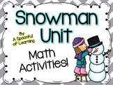 Snowman Math Activities!