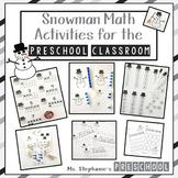 Snowman Math Activities for the Preschool Classroom