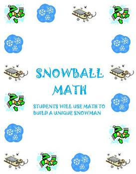 Snowman Math Activity: Order of Operations