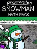 Snowman Math Activity Pack for Kindergarten