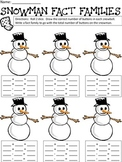 Snowman Math Addition and Fact Families