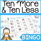Ten More and Ten Less Winter Math Game for 1st Grade