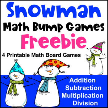 Winter Math Games - Snowman Bump Freebie