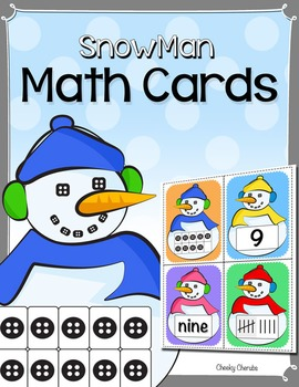 Snowman Math Cards - 0 to 10