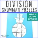 Snowman Math Centers: Division Puzzles | Winter Math Centers & Activities