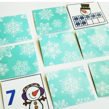 Snowman Math Centers, Printables, and Exit Tickets