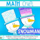 Snowman Math Craft for January