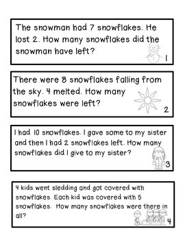 Snowman Math Craftivity -Common Core Aligned