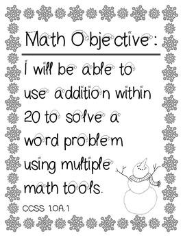 Snowman Math Craftivity for First Graders