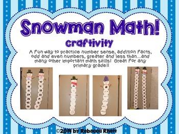 Snowman Math Craftivty