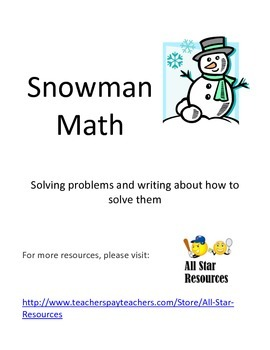 Snowman Math: Explaining how to solve problems with a snowman