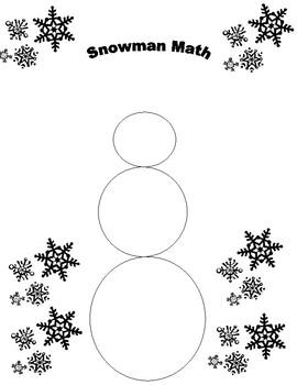 Snowman Math Find the Remainder