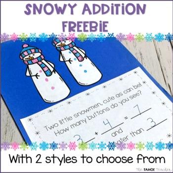 Snowman Math Freebie