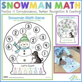 Snowman Math Game (1:1 Correspondence, Number Recognition