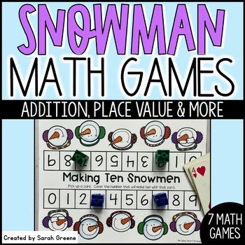 Snowman Math Games! {7 winter games}