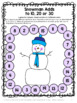 Winter Activities: Snowman Math Games Addition and Subtrac