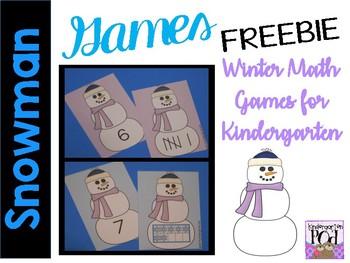 Snowman Math Games FREEBIE!