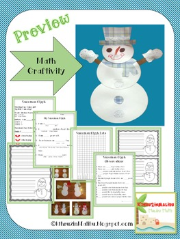Winter Math Glyph and Craftivity-Common Core Aligned