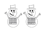 Snowman Math Match