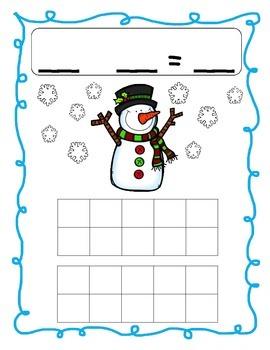 Snowman Math Mats