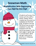 Snowman Math: Multiplication With Regrouping (Two Digit By One Digit)
