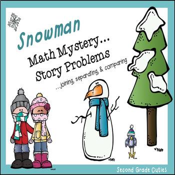Snowman Math Mystery....Story Problems