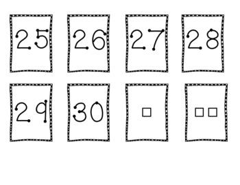 Snowman Math Number Packet
