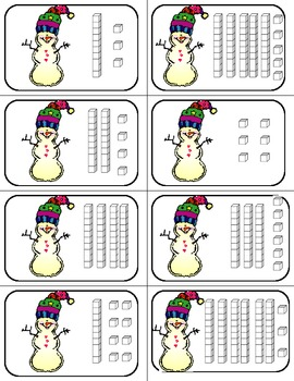Snowman Math: Place Value Game