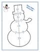 Snowman Math Puzzle for Centers