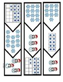Snowman Math Puzzles:  Subitize;  Free File:  Center Game T-K, Kinder, First
