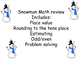 Snowman Math Review