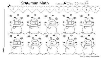 Snowman Math Stations