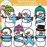 Snowman Math Symbols Clip Art