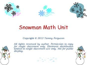 Snowman Math Unit
