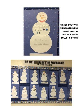 Snowman Math- adding using ten frames