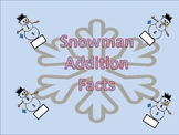 Snowman Math (addition facts to the sum of 20)