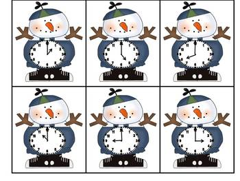 Snowman Math and Literacy Centers
