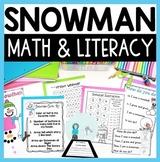 Snowman Math and Literacy Fun