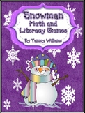 Snowman Math and Literacy Games