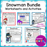 Snowman Math and Writing Activities and Worksheet Bundle